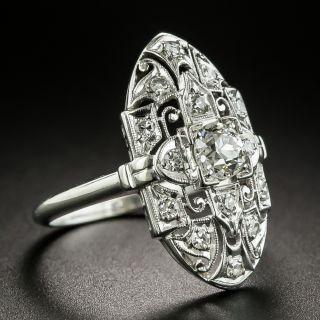 Art Deco .45 Carat Diamond Dinner Ring