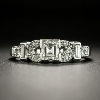 Art Deco .45 Carat Diamond Engagement Ring - 2