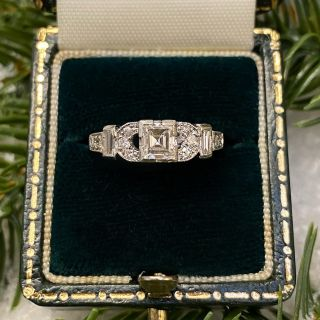 Art Deco .45 Carat Diamond Engagement Ring