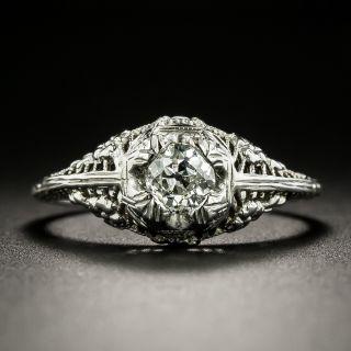 Art Deco .47 Carat Diamond Engagement Ring - 2
