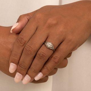 Art Deco .47 Carat Diamond Engagement Ring