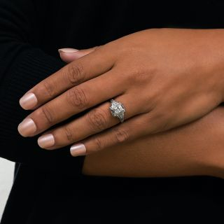 Art Deco .48 Carat Diamond Engagement Ring by Katz & Ogush