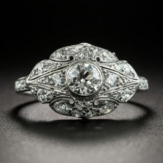 Art Deco .48 Carat Diamond Engagement Ring - 2