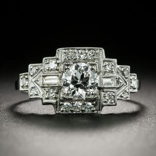 Art Deco .49 Carat Diamond Engagement Ring - GIA E VS2 - 1