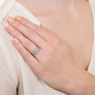 Art Deco .49 Carat Diamond Engagement Ring - GIA E VS2