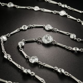 Art Deco 49 Inch 'Diamonds By The Yard' Platinum Necklace - 4