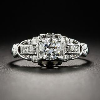 Art Deco .50 Carat Diamond Engagement Ring - 1