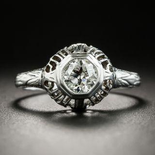 Art Deco .50 Carat Diamond Engagement Ring - Belais - 2
