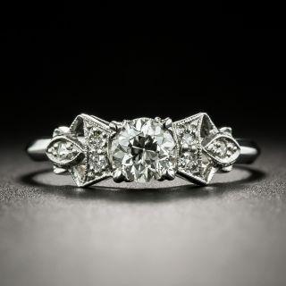 Art Deco .50 Carat Diamond Engagement Ring -  GIA G VVS 2 - 3