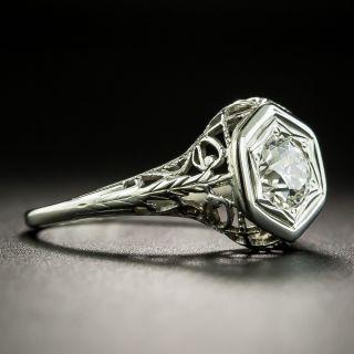 Art Deco .50 Carat Diamond Solitaire Engagement Ring