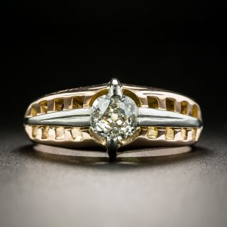 Art Deco .50 Carat Diamond Solitaire Ring - 2