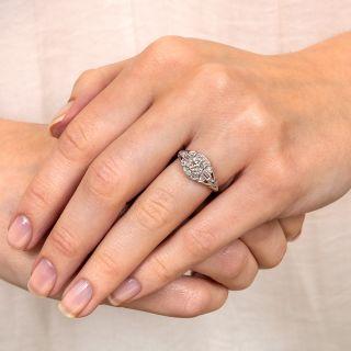 Art Deco .52 Carat Diamond Platinum Engagement Ring