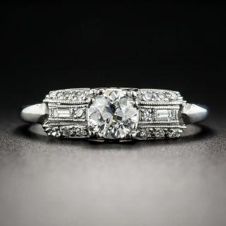 Art Deco .53 Carat Diamond Engagement Ring - GIA H VVS2 - 1