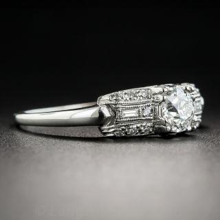 Art Deco .53 Carat Diamond Engagement Ring - GIA H VVS2