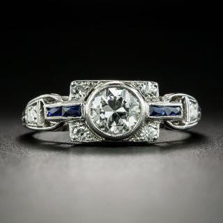 Art Deco .55 Carat Diamond Engagement Ring by Katz and Ogush - 2