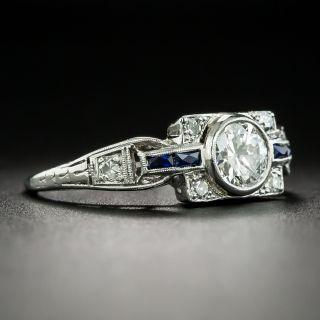 Art Deco .55 Carat Diamond Engagement Ring by Katz and Ogush