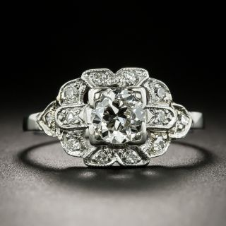 Art Deco .57 Carat Diamond Engagement Ring - 2