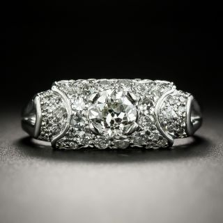 Art Deco .59 Carat Diamond Band Style Ring  - 3