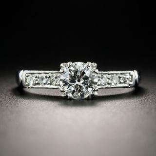 Art Deco .60 Carat Diamond Platinum Engagement Ring