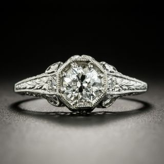 Art Deco .61 Carat Diamond Engagement Ring - GIA G VVS2 - 2
