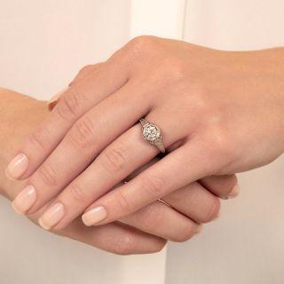 Art Deco .61 Carat Diamond Engagement Ring - GIA G VVS2