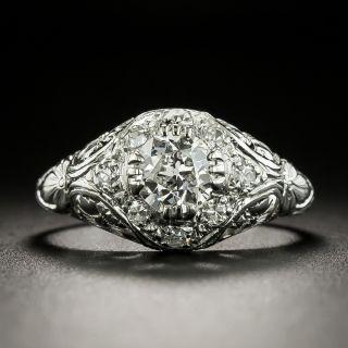 Art Deco .63 Carat Diamond Engagement Ring - 2