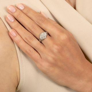 Art Deco .63 Carat Diamond Engagement Ring