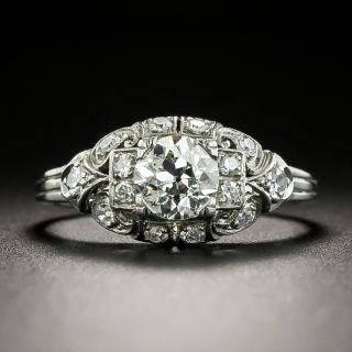 Art Deco .64 Carat Diamond Engagement Ring - 2