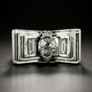 Art Deco .65 Carat Diamond Bow Ring - 3