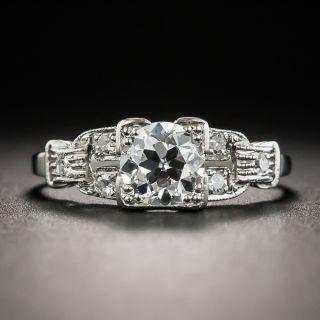 Art Deco .65 Carat Diamond Platinum Engagement Ring - 2