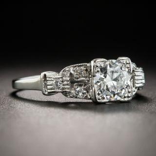 Art Deco .65 Carat Diamond Platinum Engagement Ring