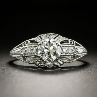 Art Deco .65 Carat Diamond Ring by Katz & Ogush - 2