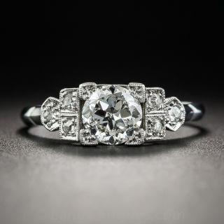 Art Deco .65 Carat Platinum Diamond Engagement Ring