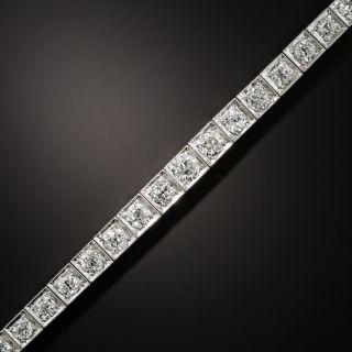 Art Deco 7.00 Carat Total Weight Diamond Line Bracelet - 3