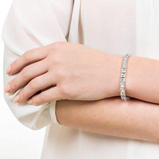 Art Deco 7.00 Carat Total Weight Diamond Line Bracelet