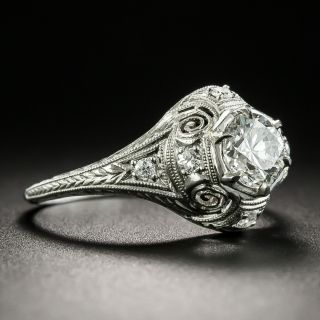 Art Deco .70 Carat Diamond Engagement Ring - GIA H VS2