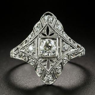 Art Deco .70 Carat Total Weight Diamond Dinner Ring - 2
