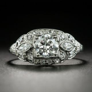 Art Deco.72 Carat Diamond Engagement Ring - GIA E SI1 - 2