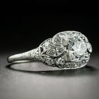 Art Deco.72 Carat Diamond Engagement Ring - GIA E SI1