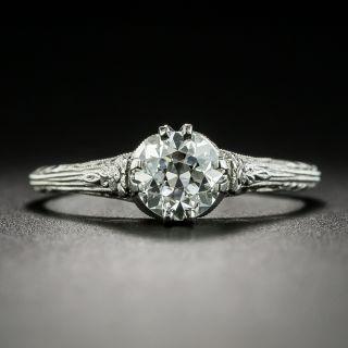 Art Deco .72 Carat Diamond Solitaire Engagement Ring - GIA E VS2 - 2