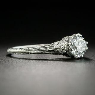 Art Deco .72 Carat Diamond Solitaire Engagement Ring - GIA E VS2