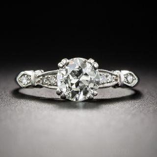 Art Deco .73 Carat Diamond Engagement Ring, GIA J VS1 - 2
