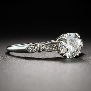 Art Deco .73 Carat Diamond Engagement Ring, GIA J VS1