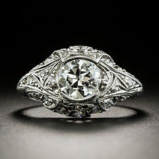 Art Deco .73 Carat Diamond Engagement Ring - 1