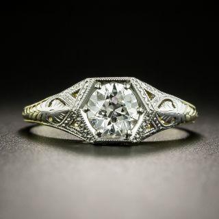 Art Deco .74 Carat Diamond Solitaire Engagement Ring - GIA H VVS2 - 2