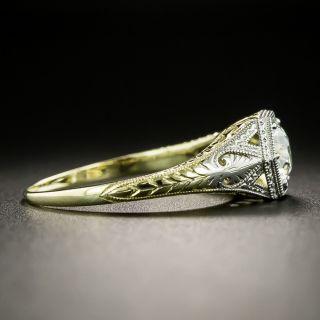 Art Deco .74 Carat Diamond Solitaire Engagement Ring - GIA H VVS2
