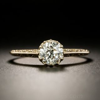 Art Deco .74 Carat Diamond Solitaire Ring by Ostby and Barton - 2