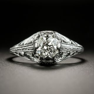 Art Deco Diamond Ring by Belais for Granat Brothers - 2