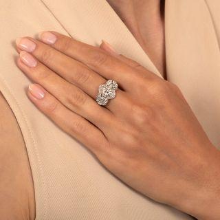Art Deco .75 Carat Diamond Engagement Ring - GIA H SI2