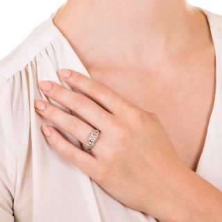 Art Deco .76 Carat Diamond Engagement Ring - GIA F VS1